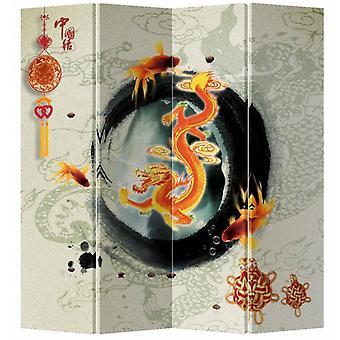 Hieno aasialainen elämää kiinan itämainen huone jakaja taittuva yksityisyys näyttö 4 paneeli Ouroboro L160xH180cm