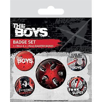 Das Jungen-Abzeichen-Set (5er-Pack)