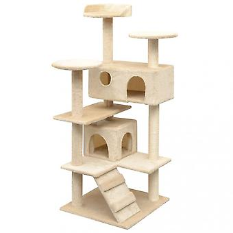 Chunhelife Cat Tree With Sisal Scratching Posts 125 Cm Beige