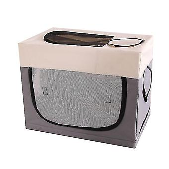 Foldable Pet Playpen Exercise Kennel With Carrying Case,exercise Pen Tent House(GRAY)