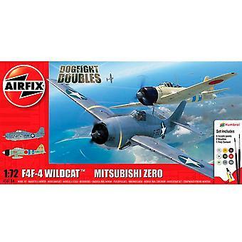 Grumman F-4F4 Wildcat with Mitsubishi Zero (Dogfight Doubles 1942) [Kit]