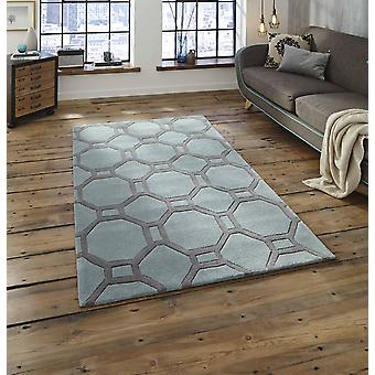 Noble House 4338 Blue Grey  Rectangle Rugs Plain/Nearly Plain Rugs