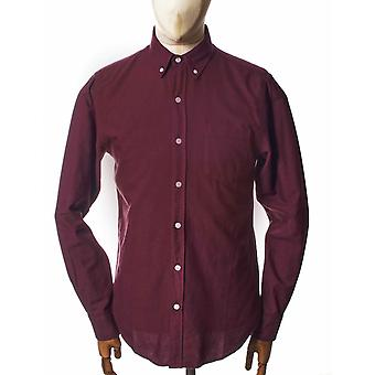 Colorful Standard Organic Button Down Shirt - Ox Red
