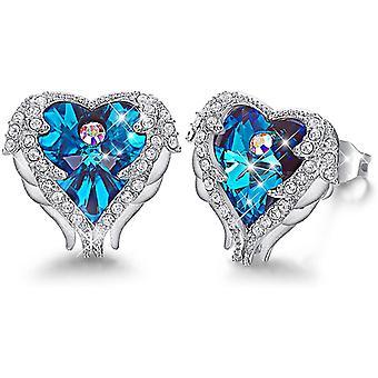 Angel Wing Örhängen för kvinnor Rhodium pläterade mors dag smycken gåvor