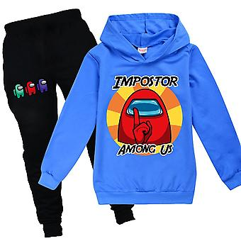 Among Us Game Kids Hoodie Pants Set Impostor Tracksuit Outfit Clothes