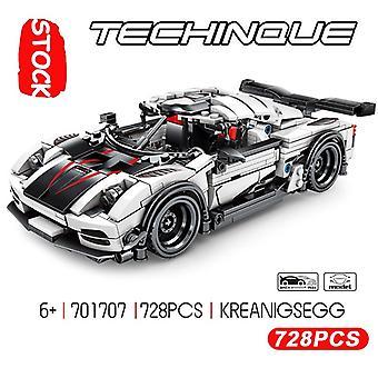 Uusi Super Racing Speed Car Koenigsegg Malli Builing Blocks Bricks Assembly Toys Joululahjat