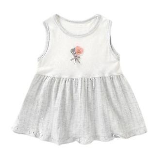 Vestido infantil de colete de costura feminino