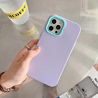Three In One Liquid Phone Case,simple Contrastpurple Iphone12