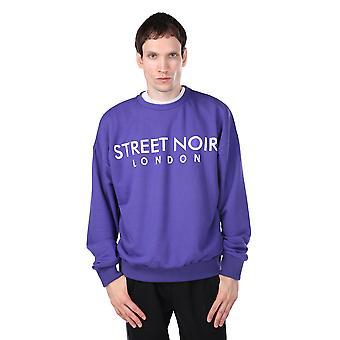 London trykt lilla menns mannskap nakke genser