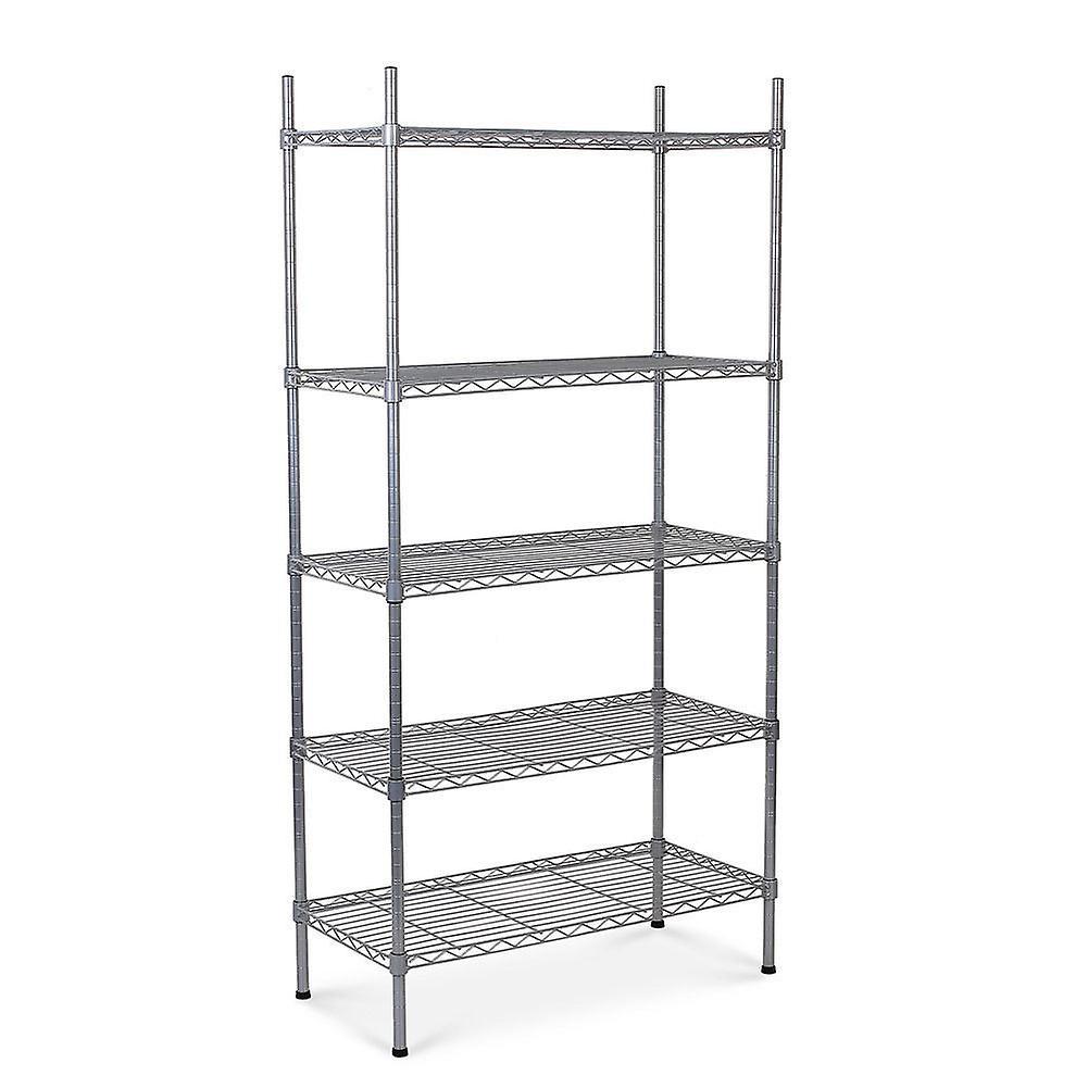 5 Tier Heavy Duty Metal Steel Storage Shelf Kitchen Garage Wire Rack Shelving