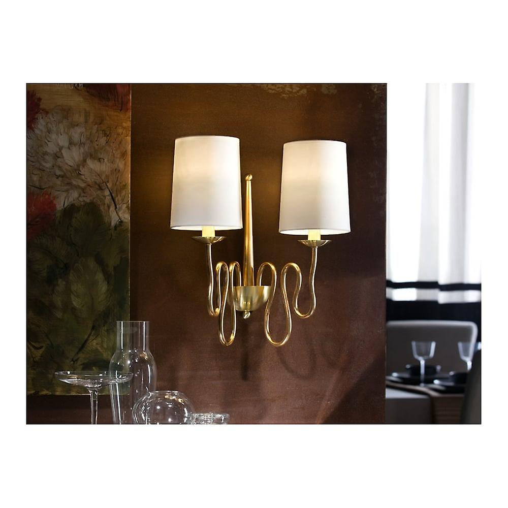 Schuller Briana Gold Wall Lamp, 2L