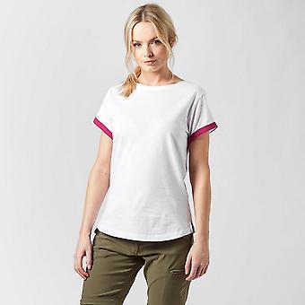 New Peter Storm Women ' s Angel kortärmad T-shirt vit