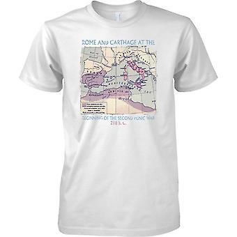 Rooman ja Karthagon Euroopan kartta 218 eaa, Miesten T-paita