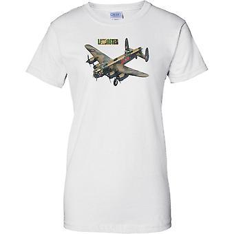 Avro Lancaster bommenwerper - legendarische WW2 militaire bommenwerper vliegtuigen - dames T Shirt