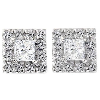 3/4CT Diamond Studs boucles d'oreilles or blanc