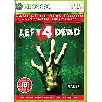 年版の Xbox 360 ゲームの左 4 死んでゲーム