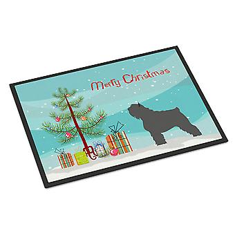 Bouvier des Flandres Christmas Indoor or Outdoor Mat 24x36
