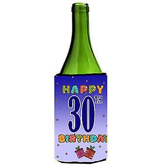 Happy 30th Birthday Wine Bottle Beverage Insulator Hugger