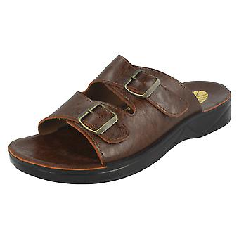 Mens Sandos Mule Twin Buckle Sandals P51103