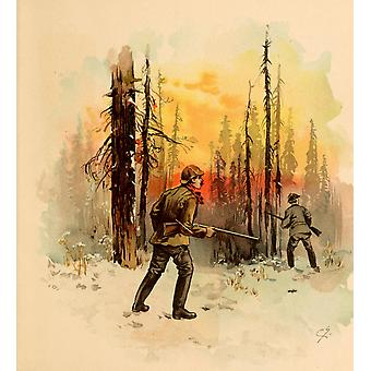 Boston Rubber Shoe Company Catalogue 1896 Hunting Shooting Poster Print by  Charles Graham
