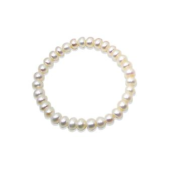 Child in white culture of sweet water pearls Stretch Bracelet