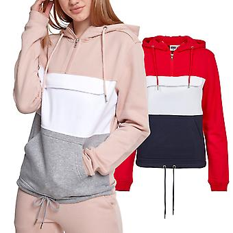Urban classics ladies - BLOCK sweat fleece sweater