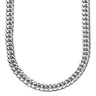 Iced uit roestvrij staal beteugelen MIAMI chain - 6 mm zilver