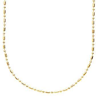 Rostfritt stål smal 3mm bollen kedja halsband - guld