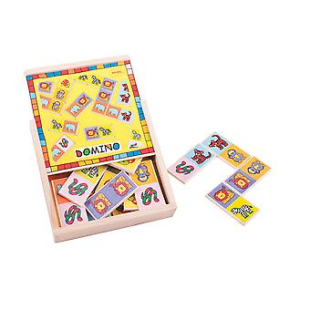 Bigjigs Toys Traditional Wooden Animal Dominoes Game Play Set