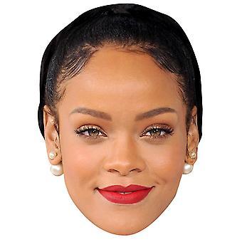 Rihanna-schwarze Haare-Gesichtsmaske
