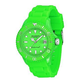 Candy tijd door Madison N.Y.. horloge unisex U4503-49-1 neon groen