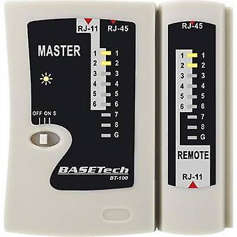 בודק כבלים בסיס טק BT-100 מתאים ל-RJ-45, RJ-11