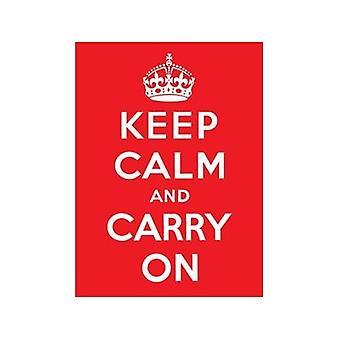 Zachowaj spokój i nosić na metalowy znak