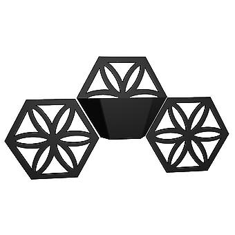 Floral Star Triple Hexagon Indoor/Outdoor Wall Planter