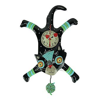 Allen Designs Craft Attack Cat Pendulum Wall Clock