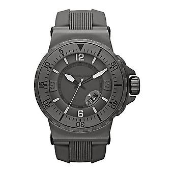 Stunning Michael Kors Mens Watch IP Grey Silicon + Date MK7061