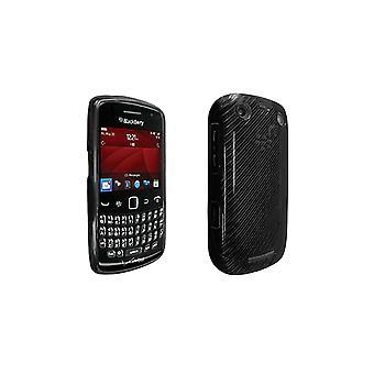 Verizon korkea kiilto Silicone Cover Blackberry Curve 9370 (musta)