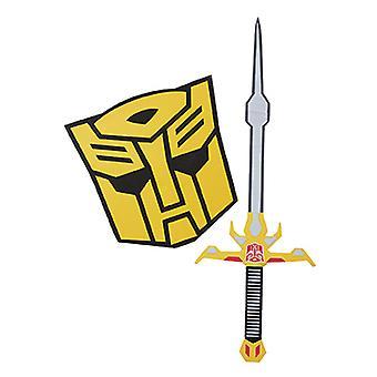 Bumblebee Kostüm Seti Kılıç ve Kalkan Çocuklar için