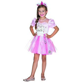 Theodor Kleid Deluxe Kinder pink Einhorn Karneval Fee Prinzessin Kostüm