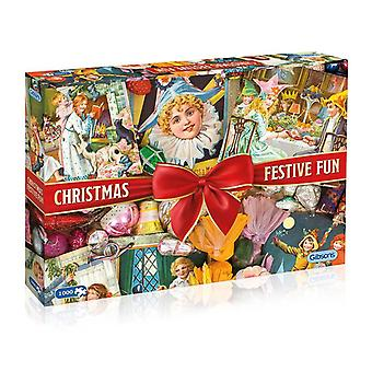 Gibsons Christmas Festive Fun Jigsaw Puzzle (1000 Pieces)