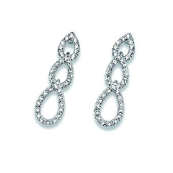 Oliver Weber Post Earring Fine Rhodium Crystal