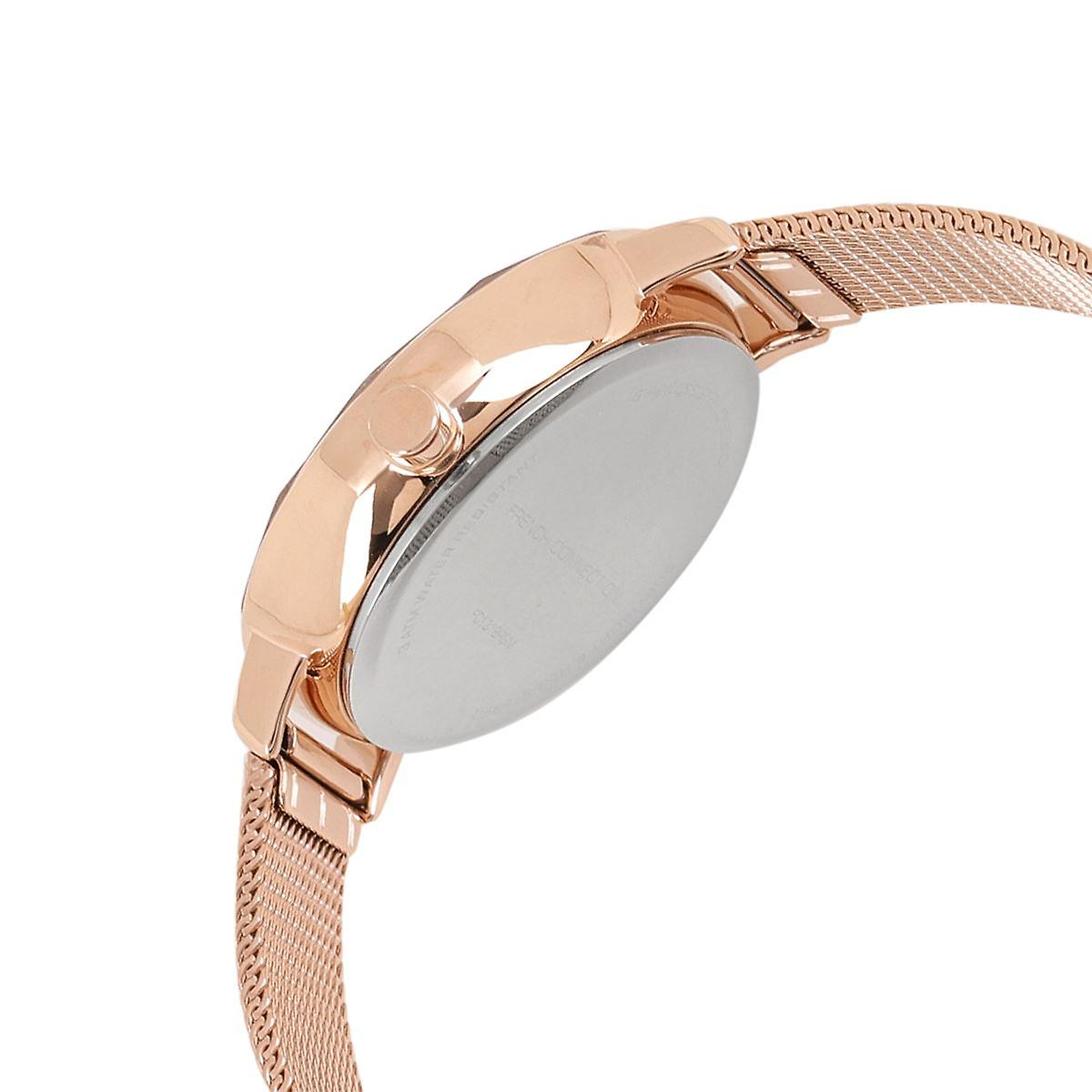 FCUK French Connection Ladies Womens Wrist Watch Rose Gold Bracelet FC1318RGM