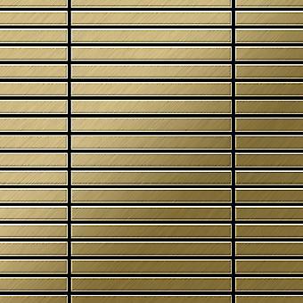 Metall mosaik TITANLEGERING linjär-Ti-GB