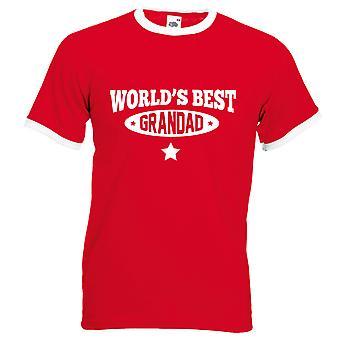 חולצת סבא הטוב בעולם ' s אדום עם לבן