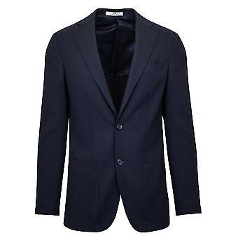 CC Collection Corneliani 2-Button Navy Blue Blazer