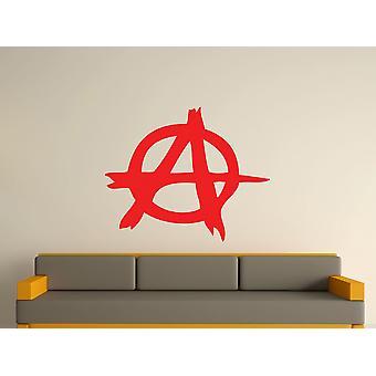 Anarquía símbolo arte etiqueta de la pared - rojo tomate