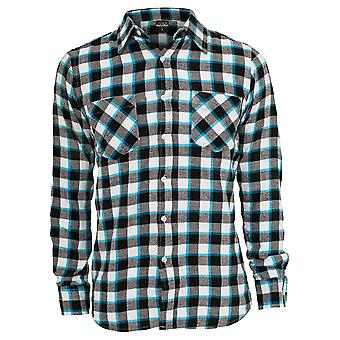 Urban classics men's long-sleeve shirt tricolor light flannel