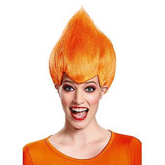 Τρελό περούκα πορτοκαλί