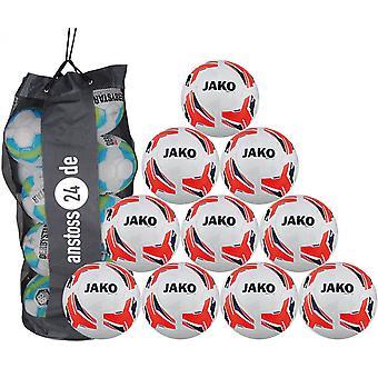 10 x JAKO Trainingsball Match 2.0 inkl. Ballsack