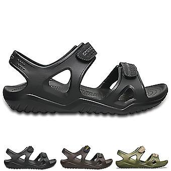 Mens Crocs Swiftwater Riversandal M Lightweight gummi Beach sandaler